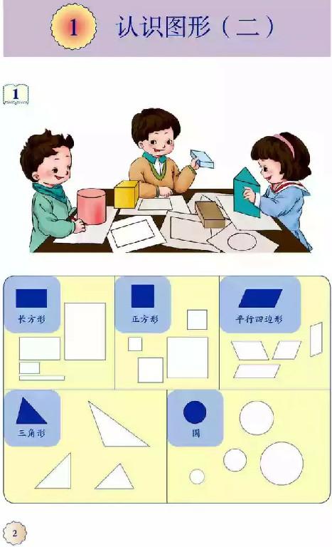 一年级数学【下册】1_认识图形第2页 全文内容【人教版】7 / 学霸宝库 / 来源:www.soqun.cc