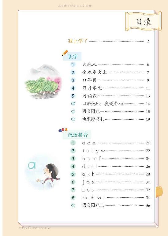 小学一年级语文【上册】课文教科书电子版PDF下载【待补...27 / 作者:je50 / 帖子ID:2